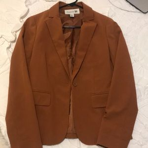 burnt orange blazer